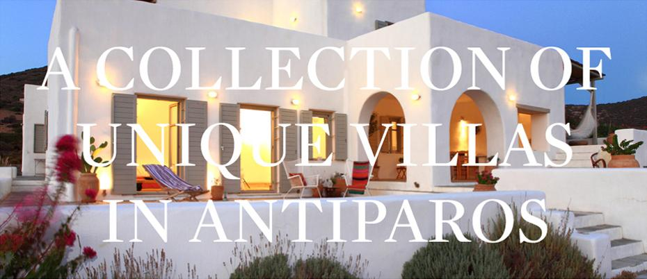 A Collection of Unique Villas in Antiparos
